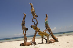 African acrobats Stock Photos