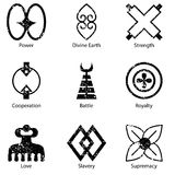 African Adinkra Symbol Icon Set Royalty Free Stock Photography