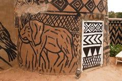 African adobe hut stock image