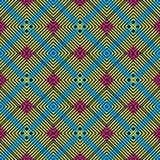 Symmetric Vivid Color Seamless Pattern royalty free stock photo