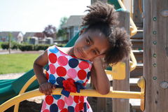 African Ameican girl playing Royalty Free Stock Photos