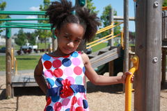 African Ameican girl playing Royalty Free Stock Photo