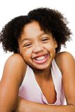 African America girl standing Stock Image