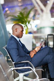 African american airport Stock Photo