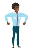 African-american angry businessman screaming. Royalty Free Stock Images