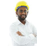 African american architect engineer. Smile Royalty Free Stock Image