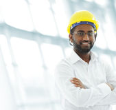 African american architect engineer. On office Royalty Free Stock Photo