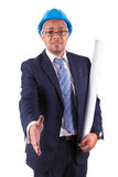 African American architect giving the hand shake - African people royalty free stock photos