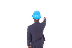 African American architect  white pointing finger - black people Stock Photos