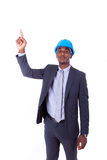 African American architect  white pointing finger - black people Royalty Free Stock Image