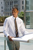 African American Architectural Engineer Royalty Free Stock Photography