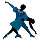 African American Ballet Couple Illustration Royalty Free Stock Photos