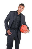 African American Basketball Player Stock Photo