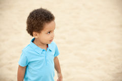 Boy on a beach Royalty Free Stock Images
