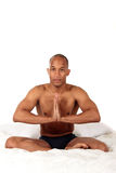 African American bedroom yoga Royalty Free Stock Photos