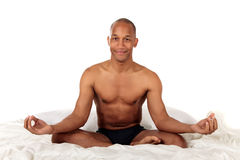 African American bedroom yoga Stock Photos