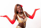African-american belly dancer in cute pose Royalty Free Stock Photo