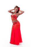 African-american belly dancer posing Stock Photo