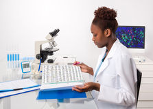 African-american biologist Royalty Free Stock Photos