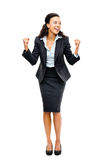 African american black businesswoman winning success isolated royalty free stock photo