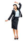 African american black businesswoman winning success isolated Stock Photo