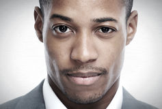 African-American black man face. stock photo