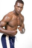 African American bodybuilder Stock Photography