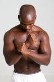 African american bodybuilder Royalty Free Stock Photography
