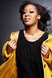 African-American bonito girl.3. Fotos de Stock Royalty Free
