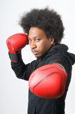 African American Boxer posing Stock Photography