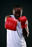 African American boxer punching Royalty Free Stock Photography