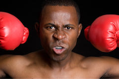 African American Boxing Man Royalty Free Stock Photos