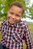 African American Boy with Dimples Stock Photo