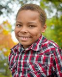 African American Boy with Dimples Stock Images