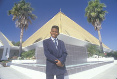 An African-American boy dressed for a church service,Coco Beach, FL Royalty Free Stock Images
