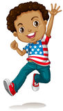 African american boy jumping royalty free illustration