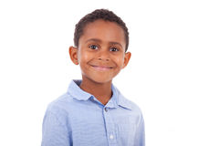 African American boy looking  - Black people Royalty Free Stock Images