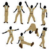 African American Boy Scout Illustration Silhouette Stock Photo