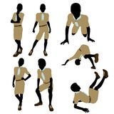 African American Boy Scout Illustration Silhouette Royalty Free Stock Photo