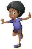 African american boy smiling. Illustration royalty free illustration