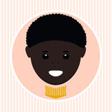 African American boy. Vector illustration Royalty Free Stock Photo