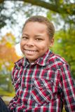 African American Boy with Dimples Stock Image