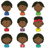 African-American Boys Avatar Royalty Free Stock Image