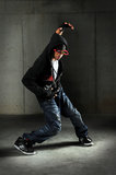 African American Breakdancer Royalty Free Stock Photography