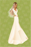 African american bride. African american girl wearing a wedding dress Royalty Free Stock Photo