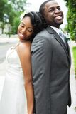 African American bride and groom. Portrait of an African American bride and groom Royalty Free Stock Photography