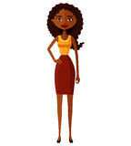 African American business girl. Focused African business woman. Royalty Free Stock Photo