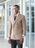 A black business male royalty free stock image