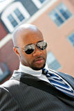 African American Business Man In the City Stock Images