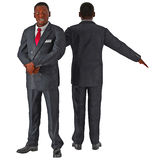 African American business man isolated on white 3D Illustration Stock Images